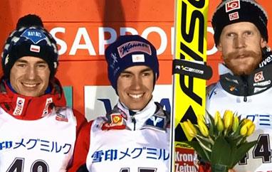 PŚ Sapporo: Zwycięstwo Krafta. Stoch zdrugim miejscem irekordem skoczni
