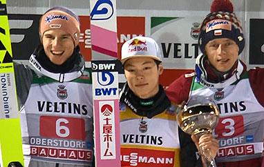 TCS Oberstdorf: Zdecydowane zwycięstwo Kobayashiego, Kubacki napodium