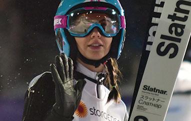 FIS Cup Szczyrk: Haralambie zwycięska, Rajda na podium