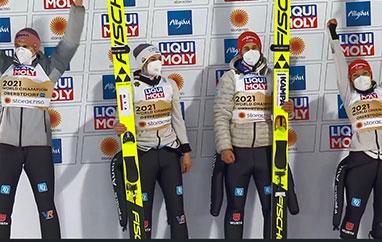 MŚ Oberstdorf: Niemcy zczwartym mistrzostwem drużyn mieszanych