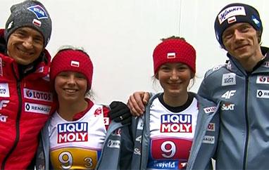 Polska drużyna zadowolona podebiucie wkonkursie mikstów