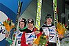 Robert Johansson (Norwegia), Manuel Fettner (Austria) i Mitja Meznar (Słowenia)