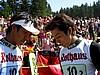 Noriaki Kasai i Kazuyoshi Funaki (Japonia) podczas rozdawania autografów