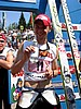 zadowolony z podium Wojciech Tajner (Polska) popija wodę