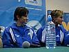 konferencja prasowa - Martin Schmitt i Sven Hannawald (Niemcy)