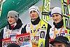podium Tomasz Byrt, Kamil Stoch, Rafał Śliż (Polska)